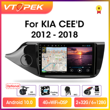 """Vtopek 9"""" 4G+WiFi RDS DSP 2din Android 10.0 Car Radio Multimedia Player GPS Navigation For KIA Ceed CEED JD 2012 2018 Head Unit"""
