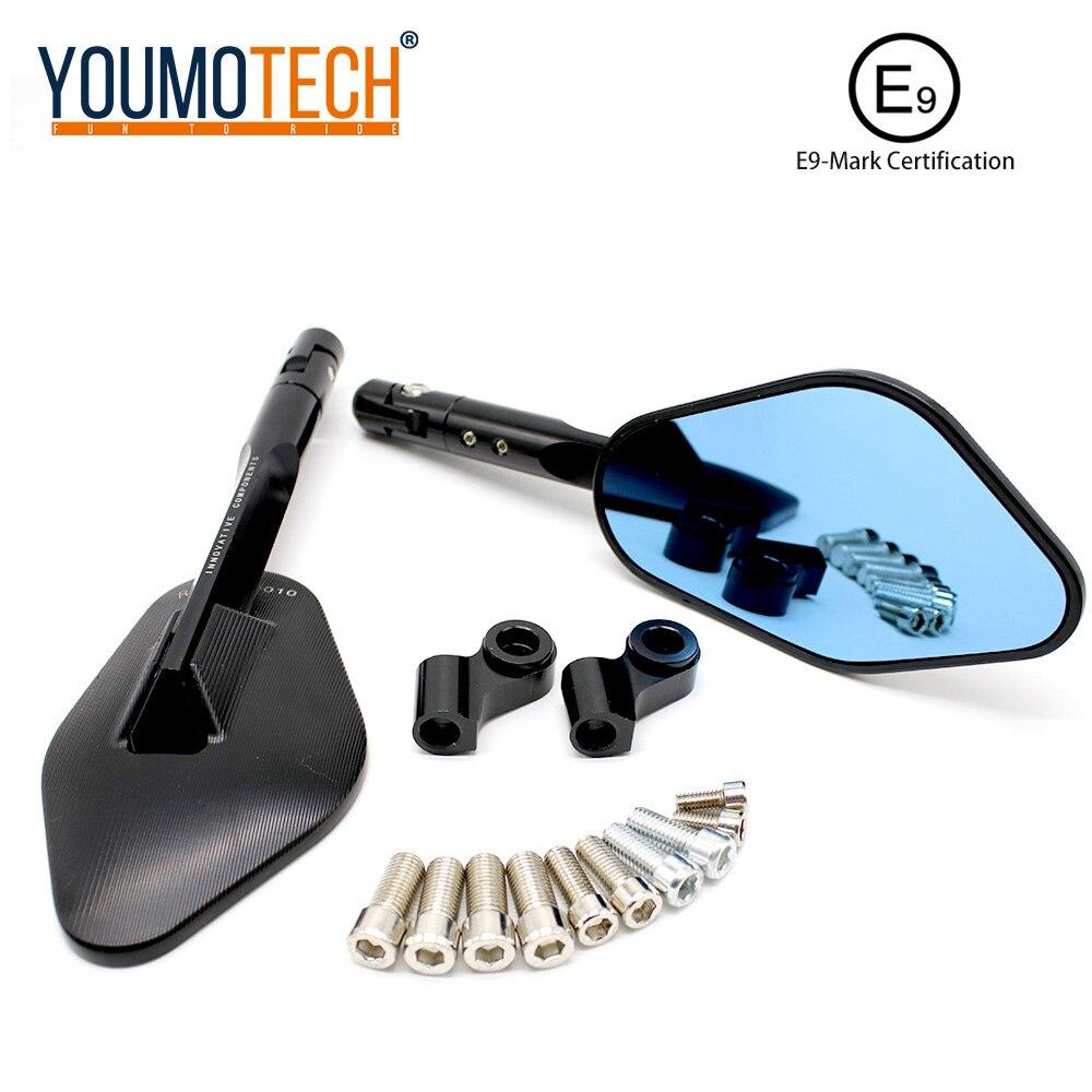 Universal Motorcycle Modified CNC Rearview Mirror For Yamaha Fz8 Nmax Wr 250 Mt03 Mt09 Kawasaki Z250 Z800 Er4n