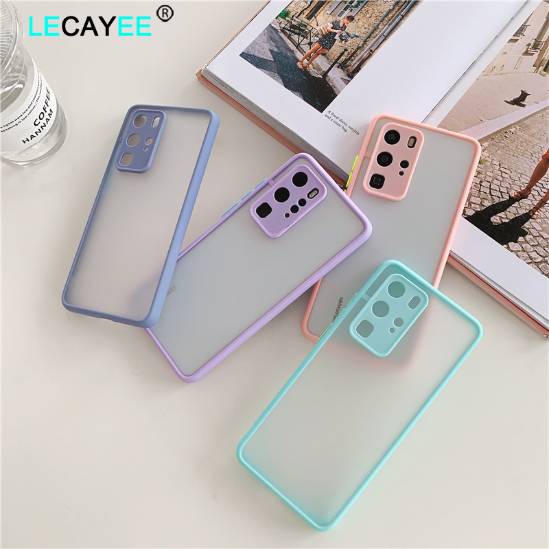 Shockproof  Phone Case Back Cover For Huawei P40 Pro Luxury Translucent Soft Case For Huawei P40 P30 Pro Mate 30 20 Pro Case (1)