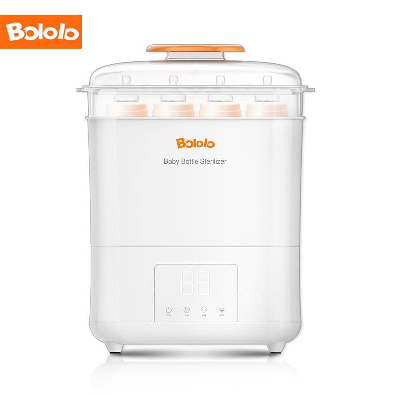Bololo Baby Bottle Electric Steam Sterilizer And Dryer With LED Panel Touch Screen HEPA Filter Inside Fit For 9-Ounce Bottle