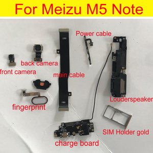 Оригинальный протестированный фронтальный или задний модуль большой задней камеры, гибкий кабель для Meizu M5 Note, зарядная плата, кабель usb и ск...