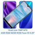 Разблокированный смартфон S7 с распознаванием лиц, 6,26 дюймов, экран капли воды, Android 4G RAM 64G ROM, мобильные телефоны, Оригинальный сотовый телефо...
