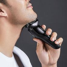 SO WHITE Wireless 3D Smart Control USB Charging Electric Razor Shaver IPX7 USB Charging Shaving