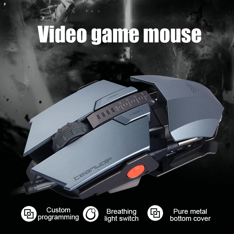 Cable Game Mouse Competition Professional Game Macro Definition Metal Computer Mechanical Mouse CS GO LOL FPS Gamer Mouse image