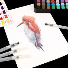 Набор нейлоновых волосяных кистей для акварели живопись ручка