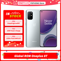 Global ROM Oneplus 8T Mobile Phone 6.55''120Hz AMOLED Snapdragon 865 Octa Core Android 11 65W Warp Charge 5G Smartphone 1
