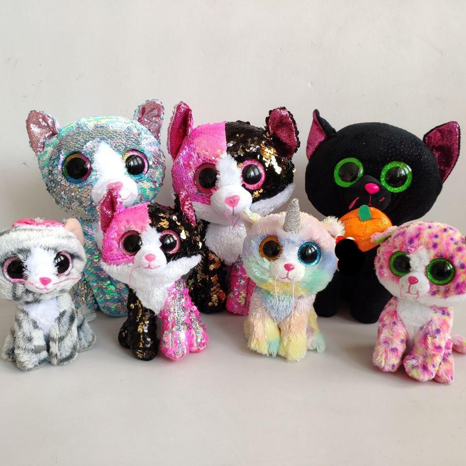 15CM CAT SCRAPPY CAT Quinn Unicorn TAURI Cat Ava Lindi Reagan Sequin CUPID Plush Toys Stuffed Animals Kids Toys Nano Dolls