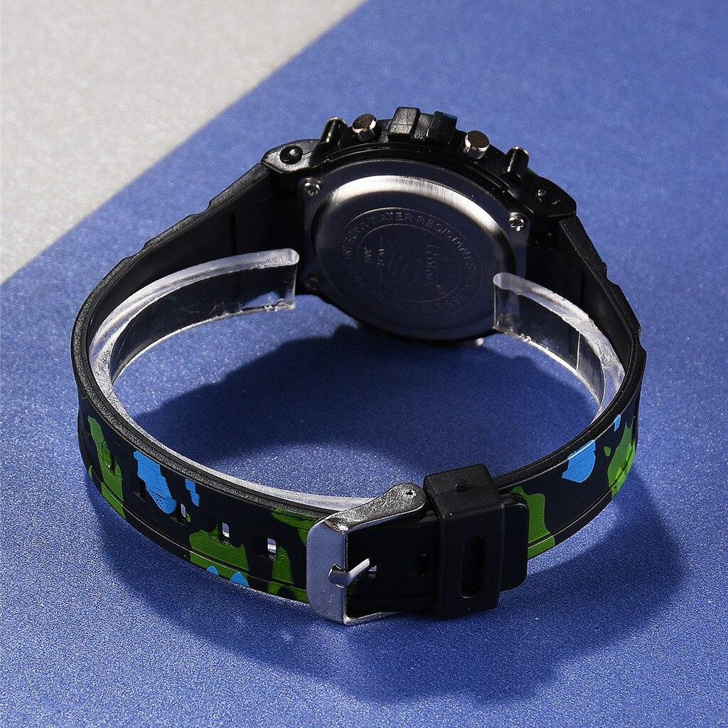 LASIKA Children% 27s электронные часы New Fashion Camouflage Watch Simple Men% 27s Waterproof Sports Electronic Watch Cool boy +% 23N03