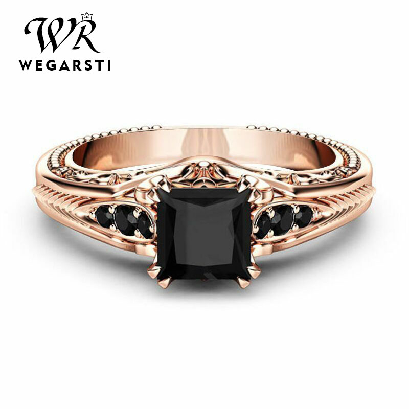 WEGARSTI Genuine Smoky Quartz Ring 925 Sterling Silver Rings For Men Wedding Rings Silver 925 Gemstones Jewelry Fine Jewelry