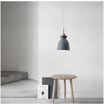 Color aluminum chandelier modern E27 wood simple светильники для кухни bedroom attic living room