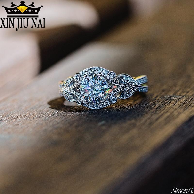 216.66руб. 20% СКИДКА|Женское кольцо с кристаллом из белого циркония, модное кольцо из серебра 925 пробы для помолвки, 2019|Кольца| |  - AliExpress