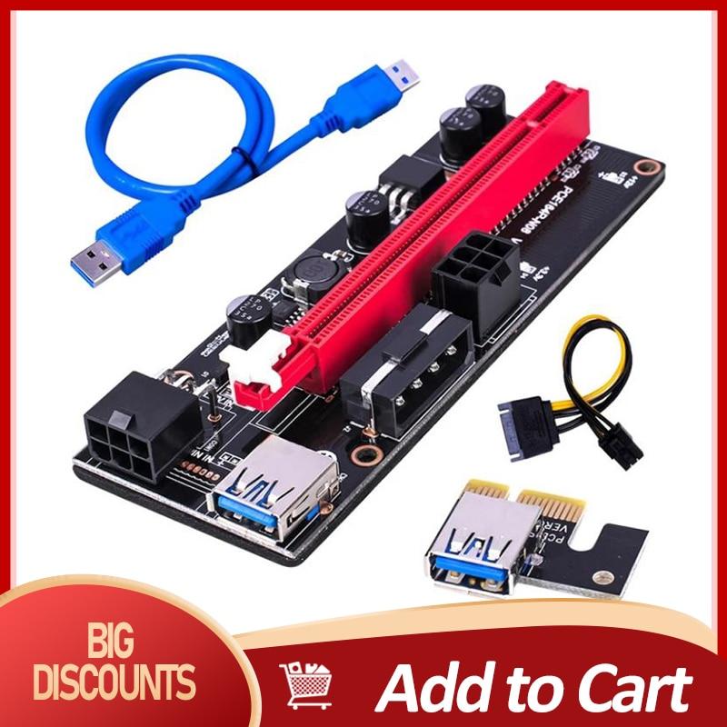 Компьютерные кабели адаптера Sata 15Pin до 6 Pin Мощность Usb кабель для передачи данных 3,0 Pci-E Ver 009S Экспресс 1X 4X 8X 16X удлинителя