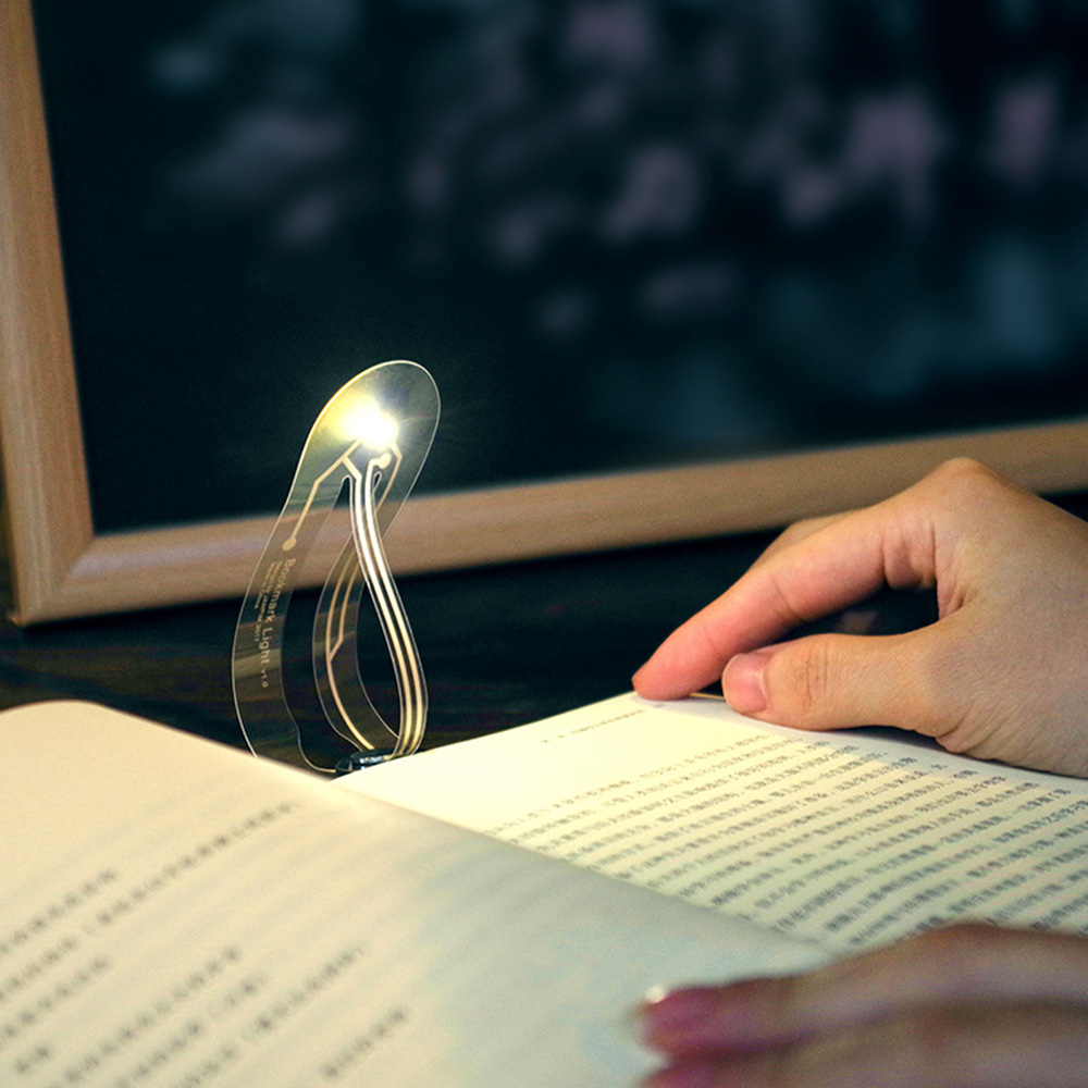 Mini Portable Led Label Book Light Button Battery Bookmark Led Reading Light Ultra-thin Pocket Led Night Light