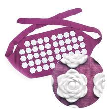 лучшая цена Muscle Relax Sports Yoga Belt Round Thorn Purple Acupuncture Massage Belt Waist Mat Pain Relieve Cushion Belt