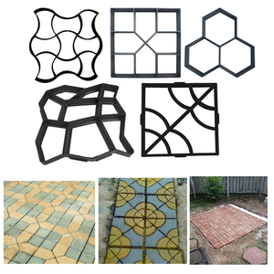 Image 1 - 1PC Garden Paving Mold DIY Manually Paving Cement Brick Stone Pathway Road Concrete Molds Path Maker Pavement Molds Mould
