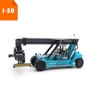 1/50 Scale Konecranes container reach crane Construction machinery vehicle car model Alloy diecast toys collection show Souvenir
