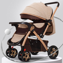 Foldable Baby Stroller Portable Travel Pram Multifunctional Newborn Infant Carriage for Four Seasons for 0~3 Year Old
