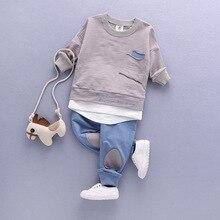 2020 enfants vêtements ensemble bébé ensembles enfants enfants automne garçon tenue sport costume ensemble 1 4T garçons filles ensemble enfant costume vêtements