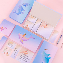 Sticker Stationery Post-It Office Notepad 4-Different-Styles Paper-Marker Whale School-Supplies
