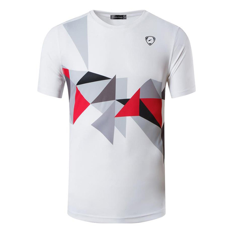 jeansian Men 39 s Sport Tee Shirt Tshirt T shirts Tops Running Gym Fitness Workout Football Short Sleeve Dry Fit LSL117 White in T Shirts from Men 39 s Clothing
