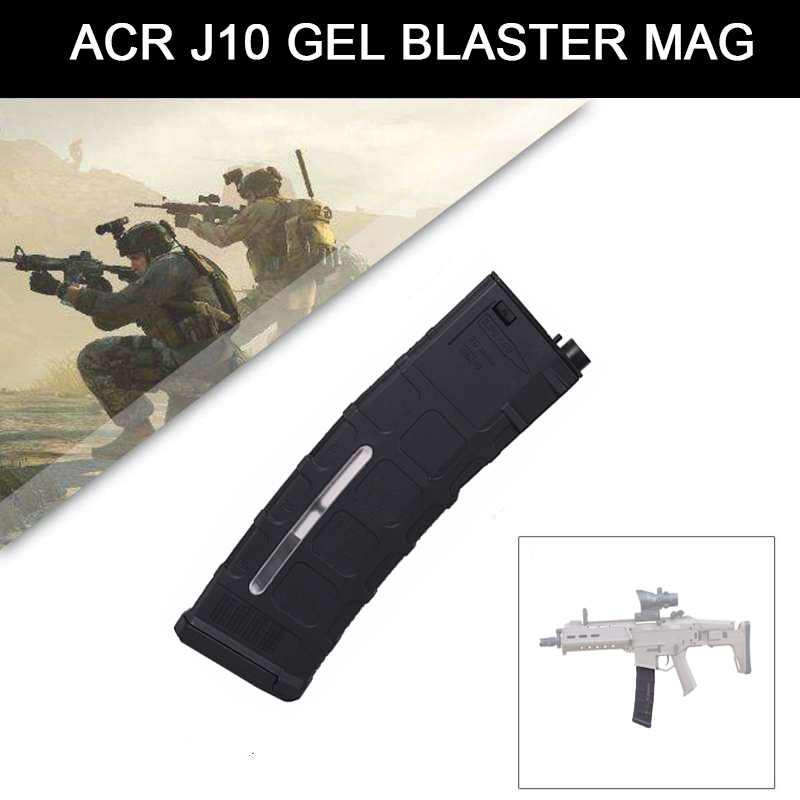 Black Clip Magzine For ACR-J10 For JinMing10 ACR-J10 Gel Ball Blaster Magazine Replacement Accessories Toy Gun Clip