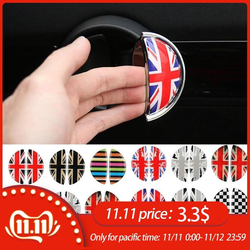 2pcs 3D Crystal Epoxy Car Interior Pull Handle Sticker For BMW MINI COOPER R56 R55 R60 R61 Countryman F55 F56 F60 Car Styling