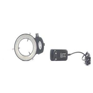 Image 5 - 3.5X 90X لحام مجهر ستيريو ثلاثي العينيات + SMD 38MP HDMI كاميرا فيديو USB رقمية + LCD 8 بوصة PCB مراقب + 144 Led أضواء