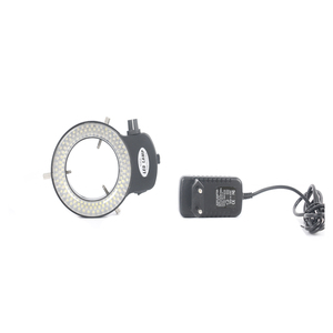 Image 5 - 3.5X 90X lehimleme trinoküler stereo mikroskop + SMD 38MP HDMI dijital USB Video kamera + LCD 8 inç PCB monitör + 144 Led ışıkları