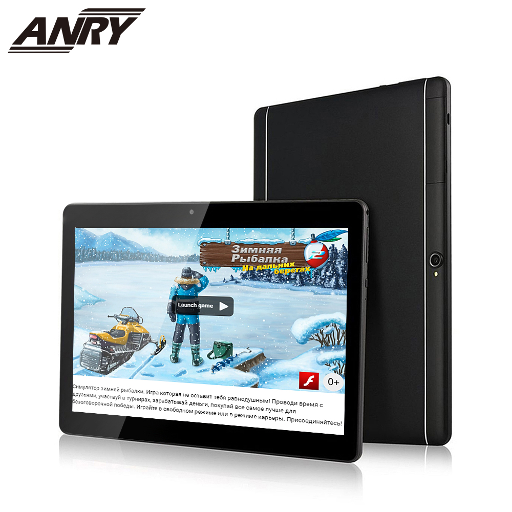 ANRY Tablet 10 Inch Pc 4GB/32GB Android 7.0 Quad Core 3G Phone 1280*800 IPS Tab Dual Camera 10.1