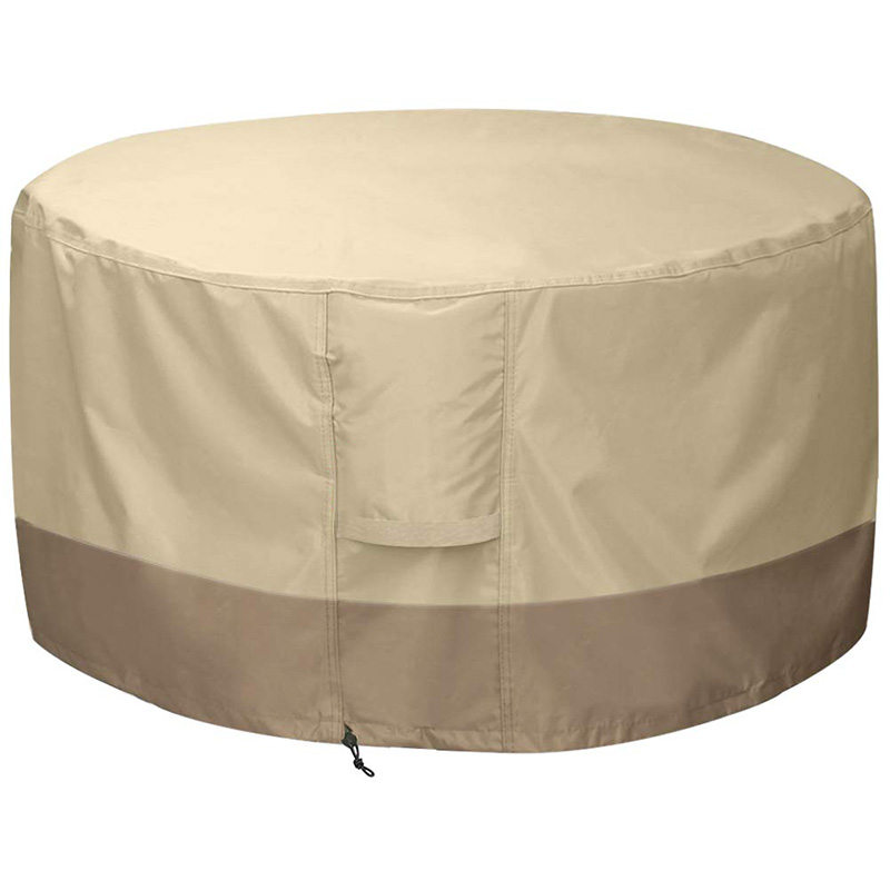 SHGO HOT-Fire Pit Cover Round-210D Oxford Cloth Heavy Duty Patio Outdoor Fire Pit Table Cover Round Waterproof Fits For 34/35/36