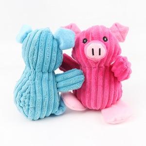 Милые Мультяшные свинки плюшевые питомцы игрушечные собаки молярные укусы жевательные игрушки сжимаемые скрипучий звук забавные интерактивные игрушки товары для собак|Игрушки для собак|   | АлиЭкспресс