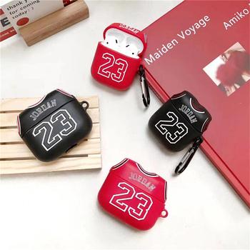 Tide marka 3D Jordan 23 koszulki silikonowe miękkie Bluetooth bezprzewodowe słuchawki Case dla Apple AirPods pro 3 dla AirPods 1 2 okładka tanie i dobre opinie Słuchawki Przypadki for airpods