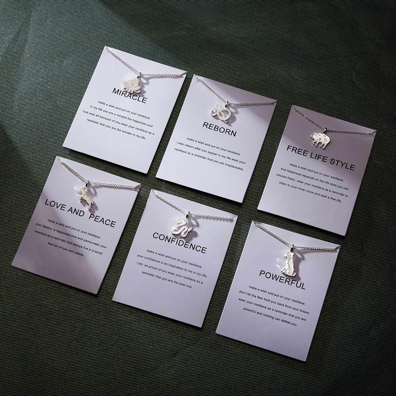 12 מזלות תליון שרשרת פשוט אתני סיני גלגל המזלות קולר שרשרת יום הולדת מתנות עם מאחל כרטיס לנשים ילדה