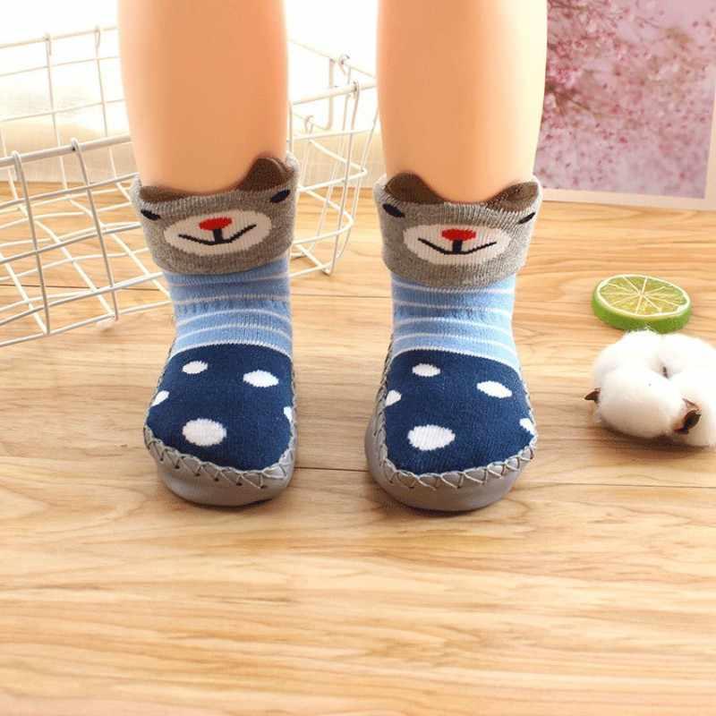 Baby Gummi Socke Schuhe Warm Cartoon Socke Mit Gummi Sohlen für kleinkind neugeborenes baby socken schuhe kinder hause sliper