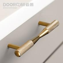 Dooroom Brass Furniture Handles Black Gold Exquisite Knurled Pulls Cupboard Wardrobe Dresser Shoe Box Drawer Cabinet Knobs