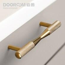 Dooroom latão puxadores de móveis ouro preto requintado serrilhado puxa armário armário armário armário armário armário armário gaveta