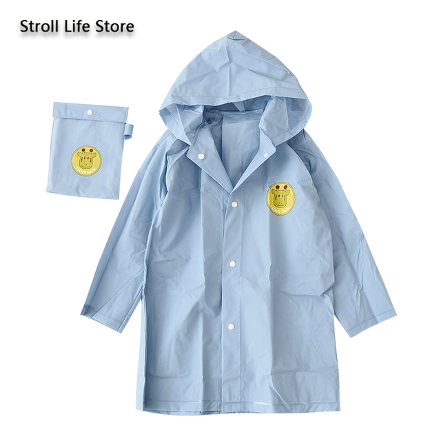 Long Raincoat Kids Boys and Girls Yellow Baby Rain Coat Waterproof Suit Rain Poncho Jacket Windbreaker Capa De Chuva Gift Ideas 1