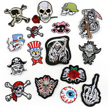 1 Pc Sticker Used for Luggage Clothing Patch Skull Cartoon Embroidery Backpack Shoulder Crossbody Bag Handbag Fashion Badge 2019