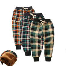Autumn Winter Pants For Boy Thicken Girls Leggings Warm Plus Velvet Trousers Corduroy Thick Kids Sport
