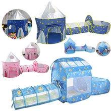 Детская палатка домик для игр игрушки туннель ползания игровой