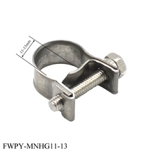 цена на Adjustable pipe clamp mini type hose clamp  high pressure hydraulic pipe safety stainless steel mini hose clamp
