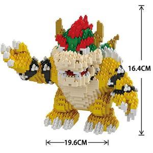 Image 4 - Balody construcción de edificios de dibujos animados para niños, minibloques, Bowser, juguetes, Mario, Yoshi, bloques de modelismo, Wario, Anime, Brinquedos, regalos, 16022