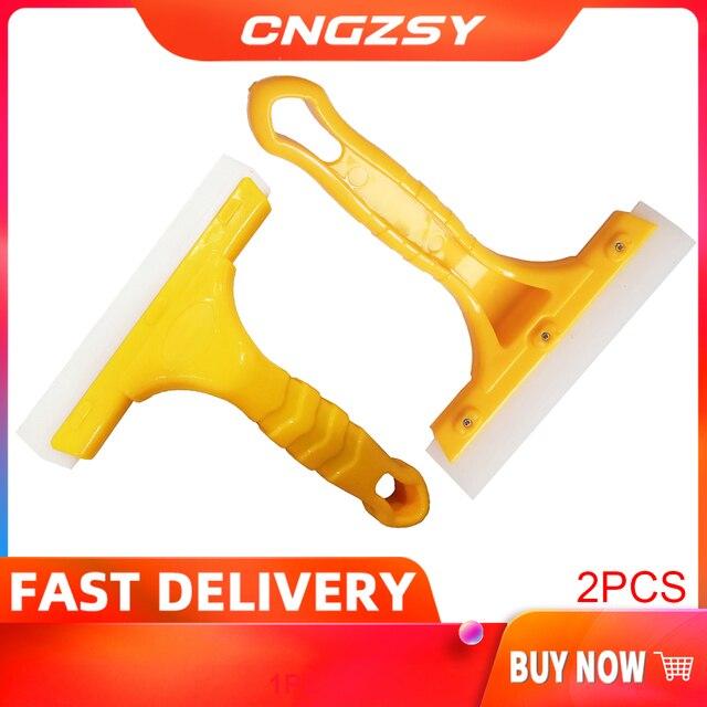 Rascador multifunción para parabrisas de coche, escobilla de limpieza con cuchilla de secado de agua, herramienta de lavado de coche B03, 2 uds.