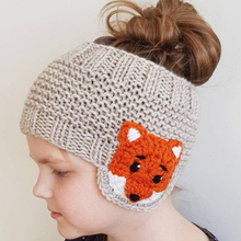 Winter Baby Girl's Knit Hat Kids Handmade Knit Beanie Hat Warm Hollow Hat Cute Cartoon Animals Crocheted Earmuffs Knitted Beanie crocheted wild animals