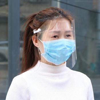 1 sztuk PET Eye Protect Hat Head Mounted odpinany osłona twarzy przenośna pokrywa ochronna do użytku na zewnątrz przeciw rozpryskom przezroczysta maska 29*22CM tanie i dobre opinie Ekologiczne Z tworzywa sztucznego Splatter ekrany