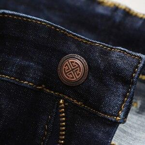 Image 4 - 2019 Nieuwe Mannen Klassieke Jeans Elastische Skinny Effen Kleur Denim Jean Mannelijke Blauw Slim Fit Broek Merk Kleding