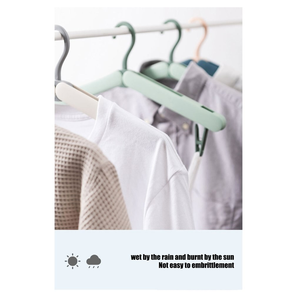 Multi-functional Travel Hangers Folding Coat Hanger Travel Clothes Rack Travel Collapsible Clothes Hangers With Clips 5