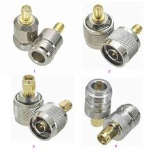 1 pces sma para n macho plug & fêmea jack rf coaxial adaptador conector teste conversor de bronze