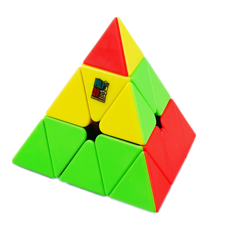 Moyu Meilong 3x3 Pyramid Cube Stickerless Speed Magic Cube Educational Toy