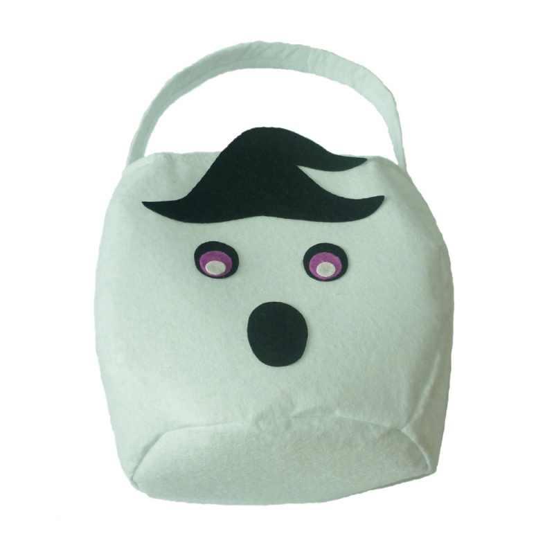 Halloween lindo dibujos animados fieltro bolsa de regalo de Halloween bolsa con mango regalo dulces bolsas calabaza/fantasma Blanco/ gato Negro